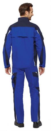 PKA Bundhose Arbeitshose BESTWORK NEW kornblau / hydronblau Hose blau Gummiband – Bild 4