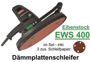 Eibenstock Dämmplattenschleifer EWS 400 +3 Schleifpapier P24 Dämmplatte Styropor – Bild 1