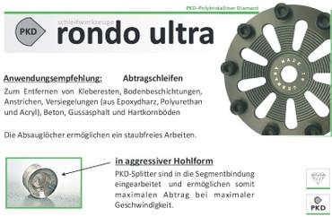 Schleifteller PKD Rondo Ultra AGM ø 125 mm Spachtelmasse, Klebereste Schleiftopf – Bild 3