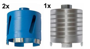 3 x Diamant-Dosensenker ø 82 mm BAIER BDB 822A Titanium Beton Klinker Kernbohrer – Bild 1