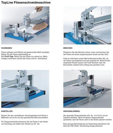 Kaufmann Fliesenschneidmaschine TopLine Standard Robust 720 mm Fliesenschneider – Bild 2