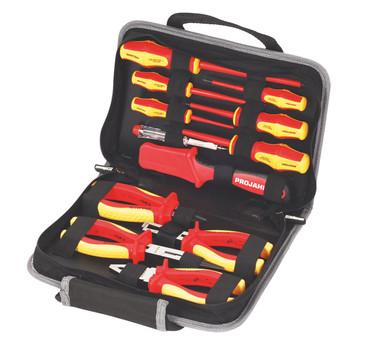 Projahn VDE Elektro Werkzeugmappe 12 tlg Werkzeug 8687 Werkzeugtasche Elektriker – Bild 1