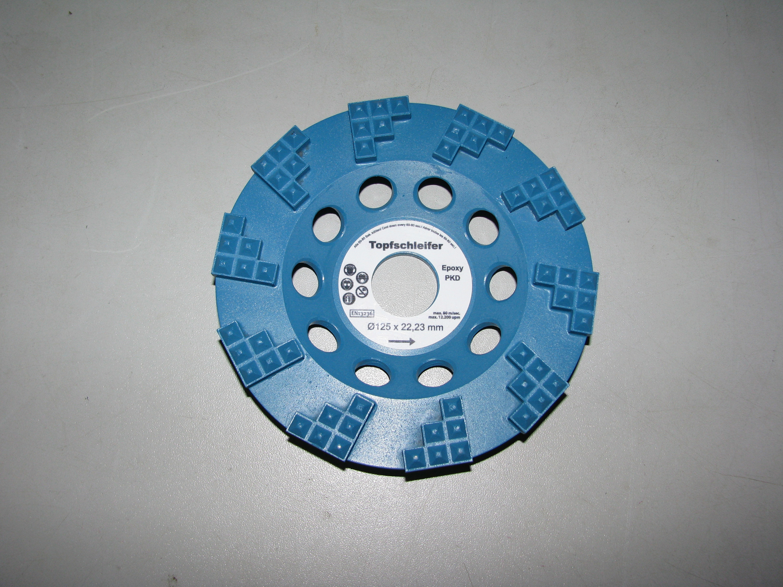 Schleiftopf 150 x 22,23 mm PKD-Anz 6 x  Premium PKD Epoxidharz Farbe Kleber