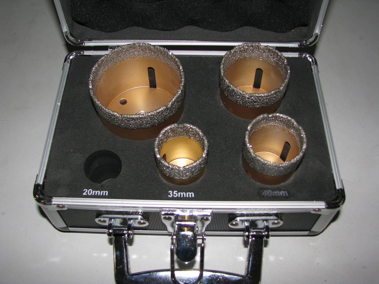 Diamant Hohlbohrer Set Bohrkronen Fliesen Feinsteinzeug Ø 20,35,40,50,65mm M14