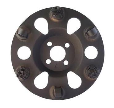 Schleifteller Duo PKD ø 125 mm Beschichtung Klebereste Epoxidharz Acryl Asphalt  – Bild 1