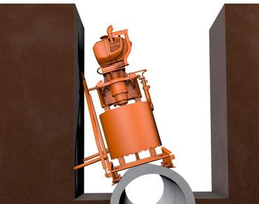 Diamant-Kernbohrgerät GÖLZ KB 350 mit STIHL 2-Takt-Motor Benzin 3-Loch 2,8 kw Rohrbohrgerät – Bild 4