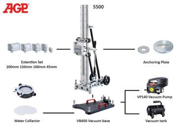 Diamant-Kernbohrständer AGP S500 Bohrständer bis ø 500 mm Ständer S 500 Kernbohrer – Bild 2