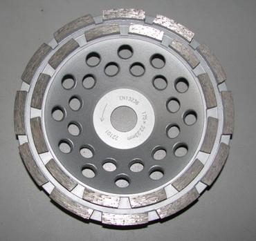 Diamant Schleiftopf Schleifteller ø 178 mm - BETON doppelreihig Betonschleifer Premium – Bild 2