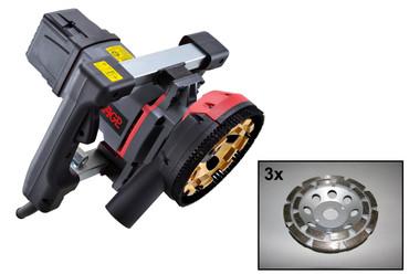Betonschleifmaschine AGP G 5 mit 4x Diamant-Schleifteller Beton Bodenschleifer Betonschleifer G5 – Bild 1