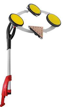 Flex GE 7 Giraffe Langhalsschleifer + VCE 33 M AC Sicherheitssauger mit Exzenterschleifkopf MH-X + Segmentschleifkopf MH-R inkl. Tasche + Saugschlauch 4m + 25x Schleifpapier K100 – Bild 6