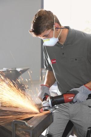 Flex LE 14-11 125 Winkelschleifer regelbar 1400 Watt + Absaughaube SG-R ø 125 mm Elektro-Schleifer SoftVib – Bild 10