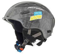 Alpina Snow Mythos - Allmountain Skihelm - silber snow silk matt - Gr. 52-56