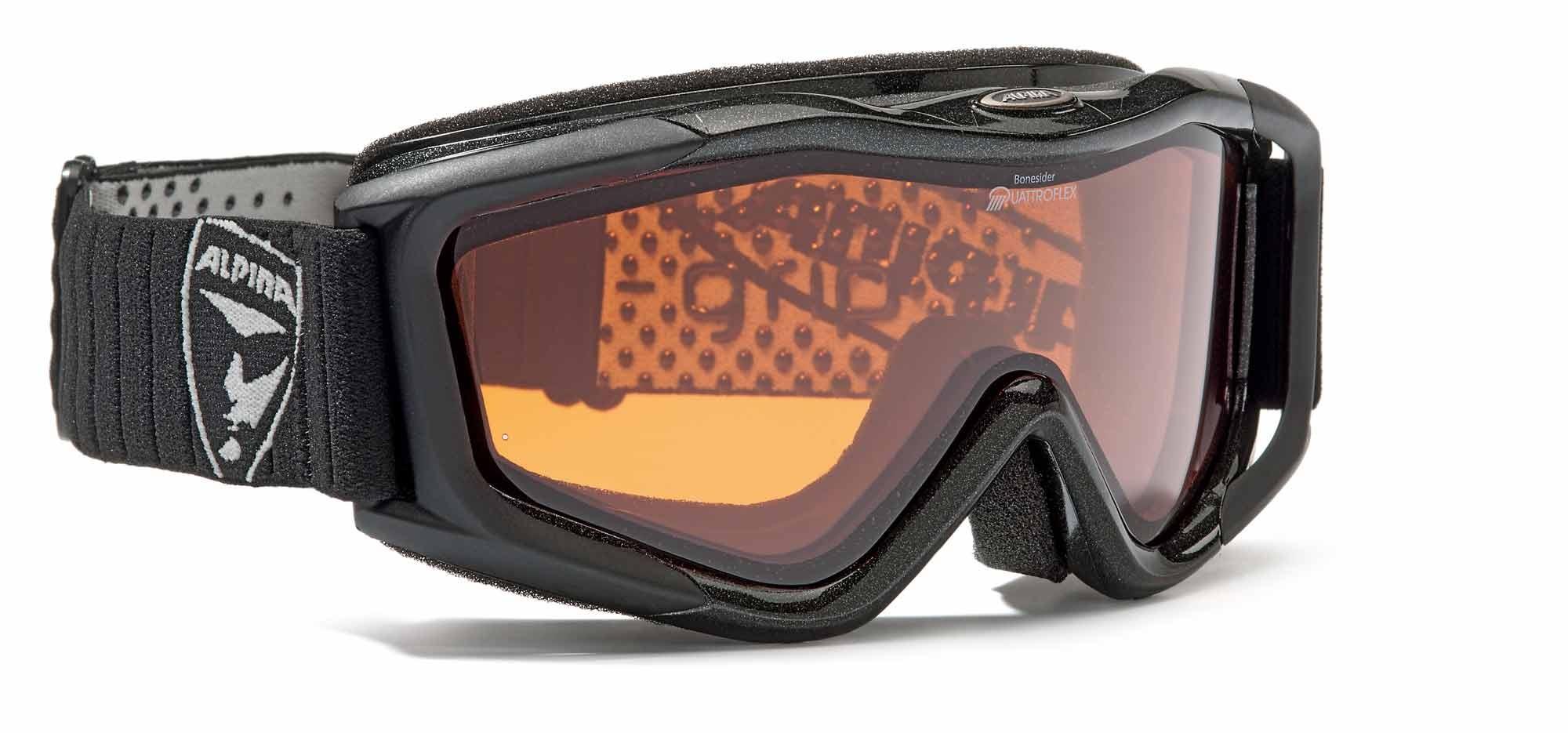 Alpina Bonesider - Damen Skibrille - schwarz