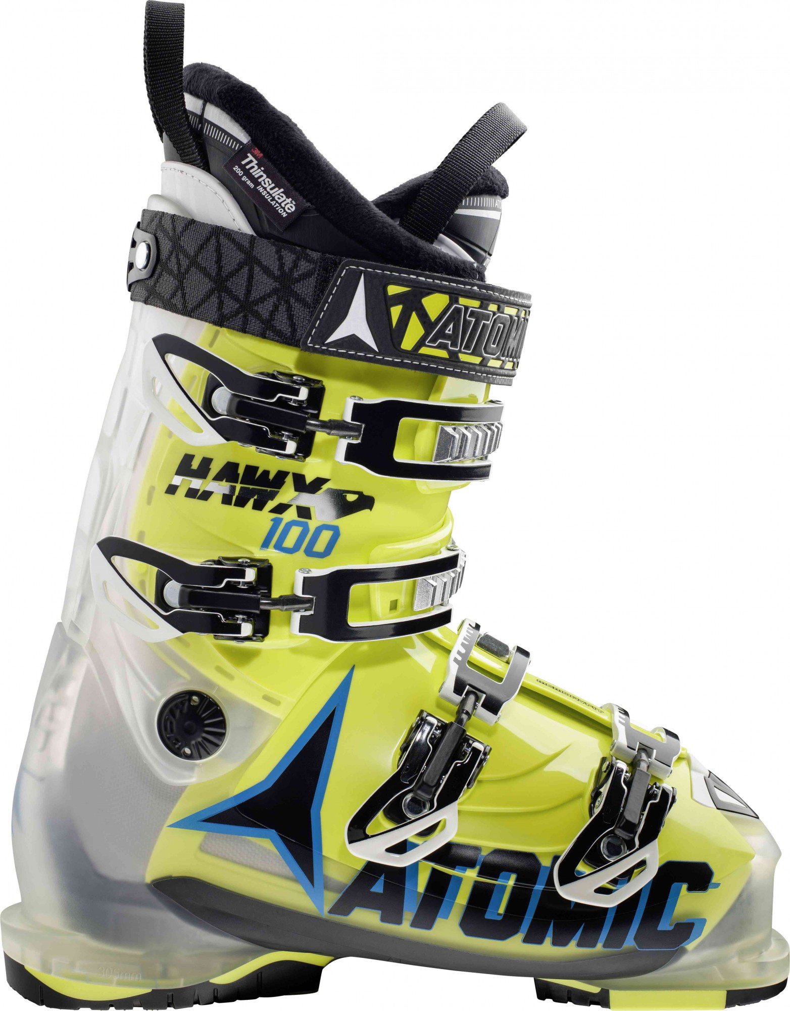 Atomic Hawx 100 - Crystal/Lime - 1 Paar All Mountain Skischuhe - MP 29.0