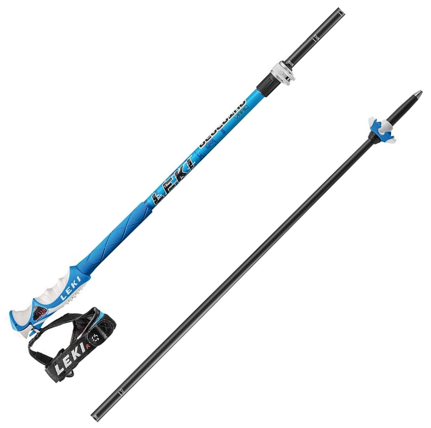Leki Blue Bird Vario S - (110-140 cm) Freeski Skistöcke mit Trigger S