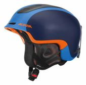 Alpina Spine - Freeride Skihelm - blau orange matt - Gr. 55-59 001