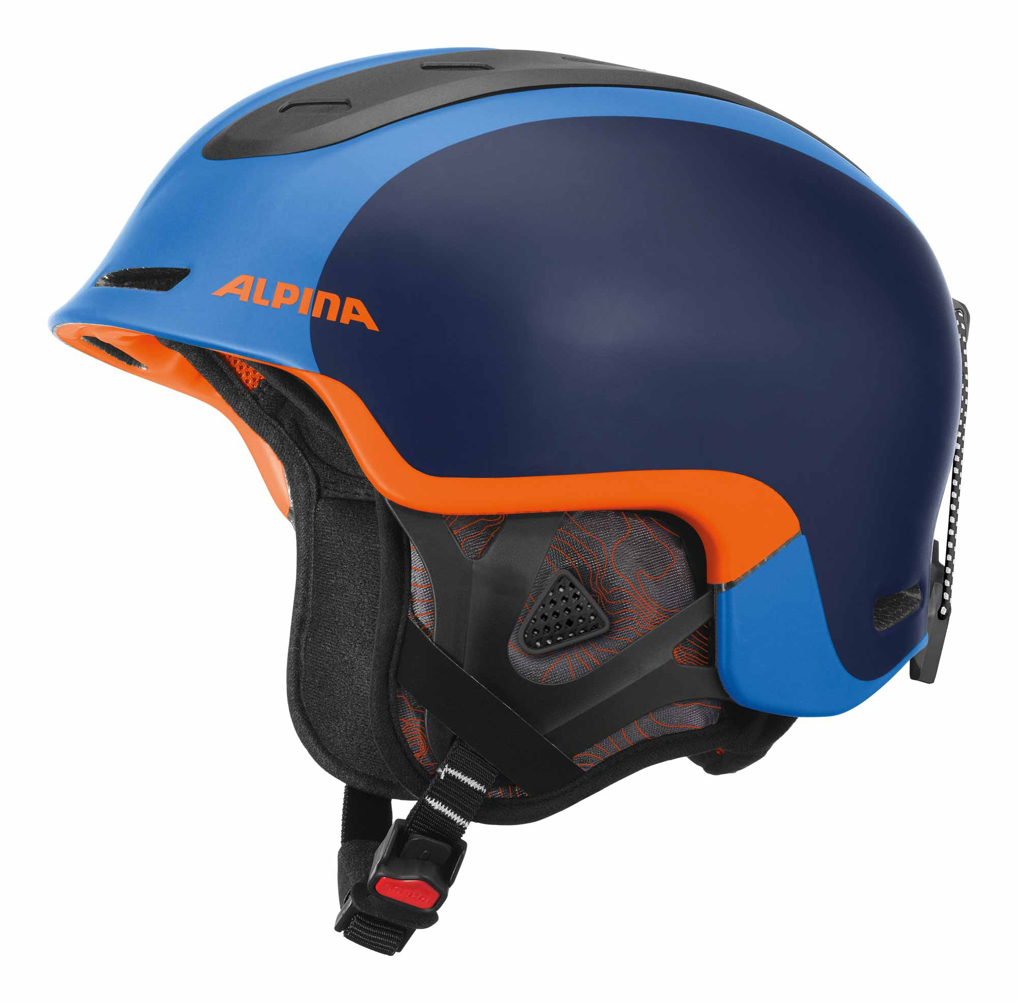 Alpina Spine - Freeride Skihelm - blau orange matt - Gr. 55-59