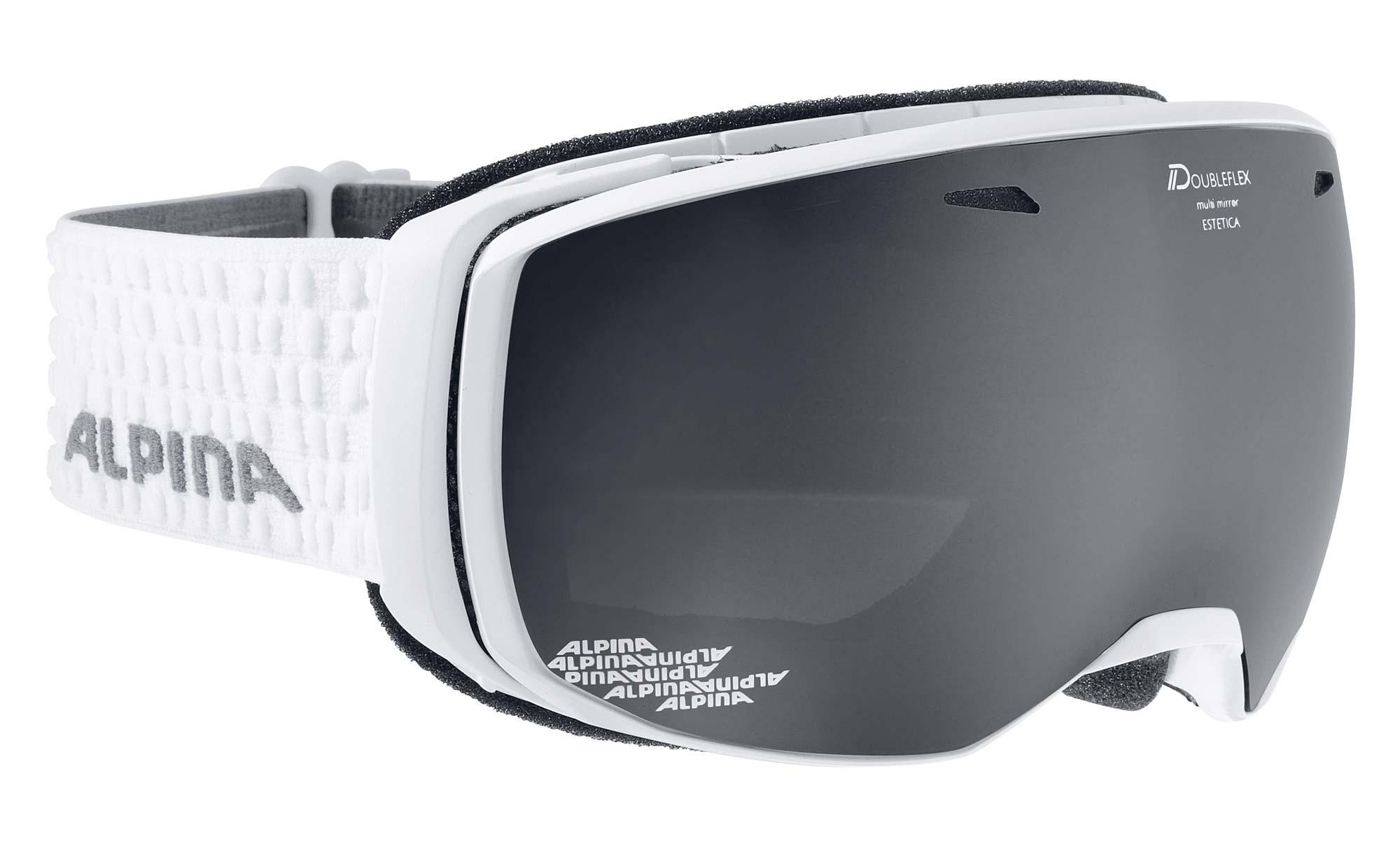 Alpina Estetica - white MM schwarz - Damen/Mädchen Skibrille