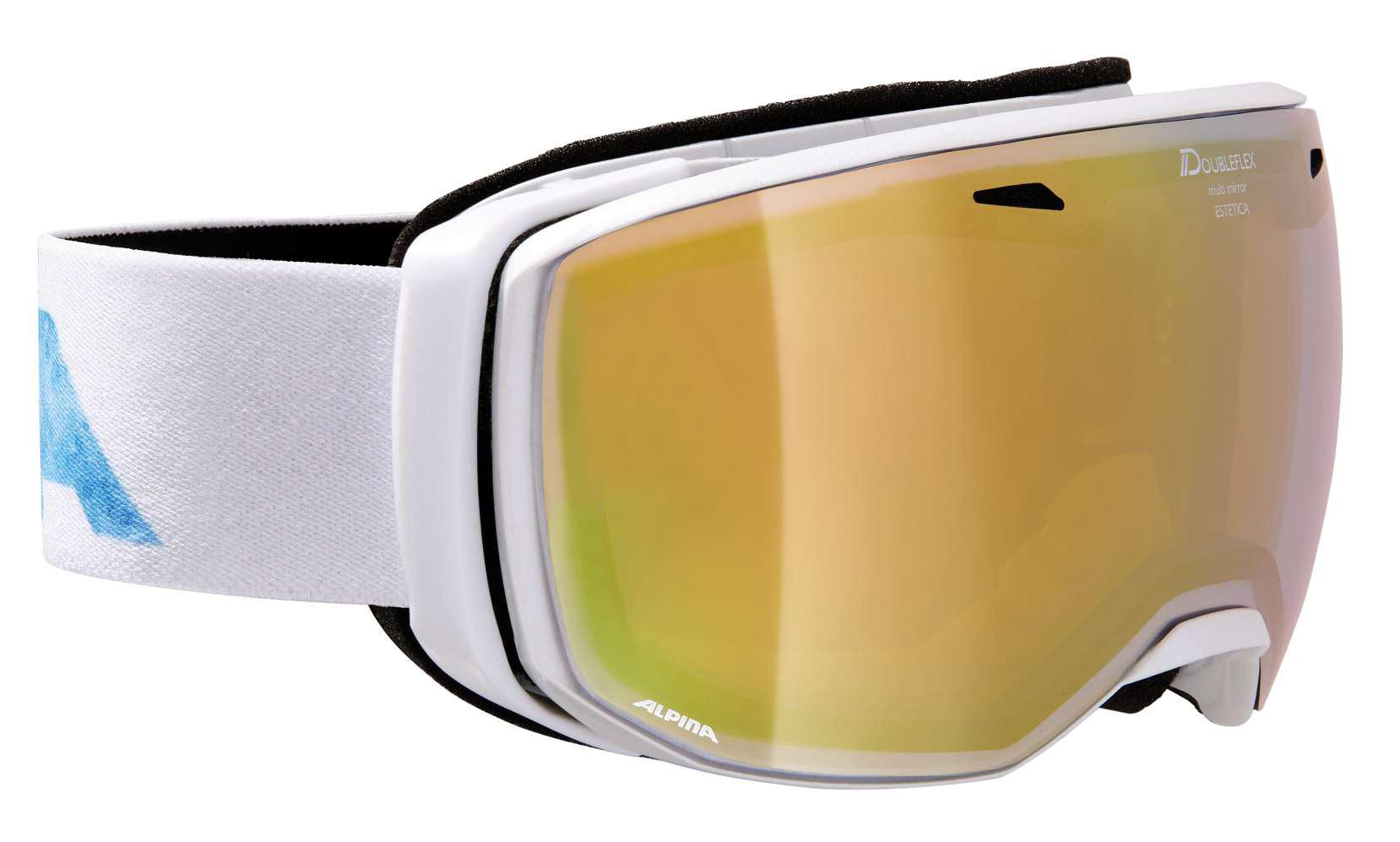 Alpina Estetica - pearlwhite MM mandarin - Damen/Mädchen Skibrille