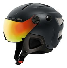 Alpina Attelas Visor QVM - Allmountain Skihelm - nightblue matt