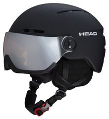 Head Knight black - Skihelm mit Visier