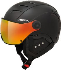 Alpina Jump 2.0 QVM - Skihelm mit Visier - black matt