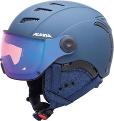 Alpina Jump 2.0 QVMM - Skihelm mit Visier - nightblue denim matt - Gr. 59-61