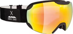 Alpina Pheos - black matt QVM red - Herren Skibrille