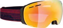 Alpina Granby - black matt QVMM red - Unisex Skibrille