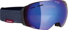 Alpina Granby - black matt MM blue - Unisex Skibrille