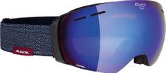 Alpina Granby - black matt MM blue - Unisex Skibrille