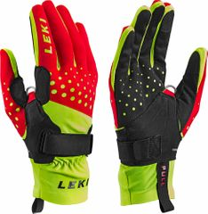 Leki Nordic Race Shark - red yellow black -  Langlauf Handschuhe mit Trigger S Shark
