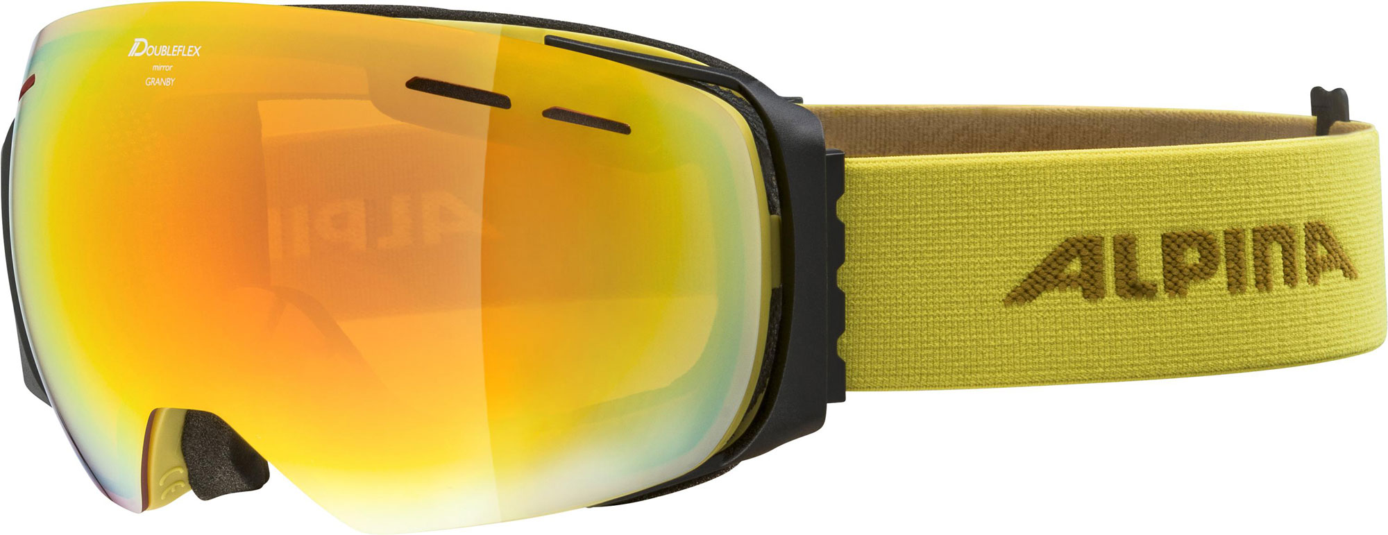 Alpina Granby - curry HM red - Unisex Skibrille
