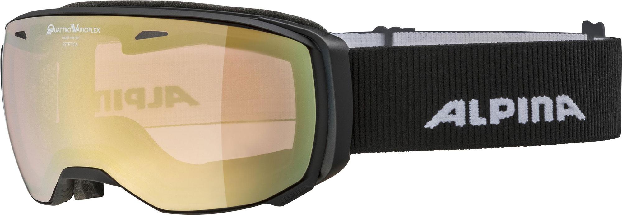Alpina Estetica - black matt QVM gold - Damen/Mädchen Skibrille