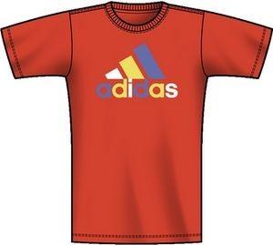 adidas Kinder T-Shirt Graphic Reinvented Logo Tee orange