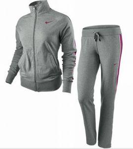 Nike Jersey Track Warm Up Damen Trainingsanzug grau/grau/pink