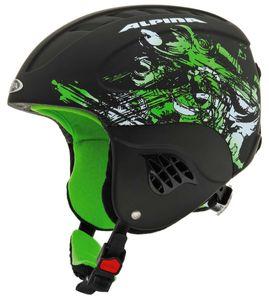 Alpina Carat L.E. Kinderhelm black green-matt