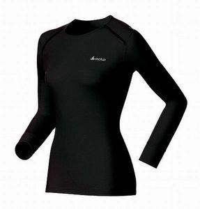 Odlo Damen Langarm-Unterhemd Shirt l/s crew neck WARM schwarz
