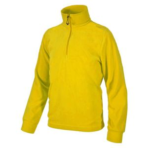 F.LLI Campagnolo Kinder Fleece Rolli Sweatshirt 1/4 Zip lemon