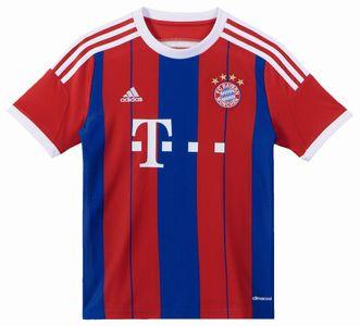 adidas Kinder FC Bayern München FCB Home Heim - Trikot ab 2014 rot / blau / weiss