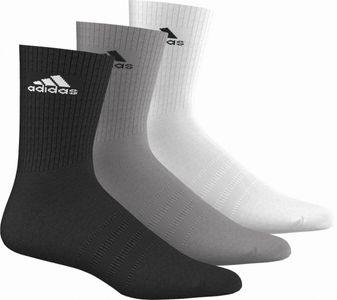 adidas Socken 3S Performance Crew HC 3 Paar schwarz weiss grau