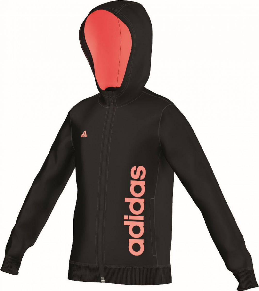 adidas m dchen trainings jacke essentials linear full zip. Black Bedroom Furniture Sets. Home Design Ideas