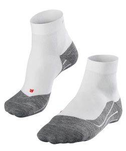 FALKE Herren Running Lauf Socke RU 4 short leichte Wettkampf Socken weiß grau