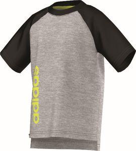 adidas Kinder Sport Fitness T-Shirt LB Essentials Street Tee grau schwarz gelb