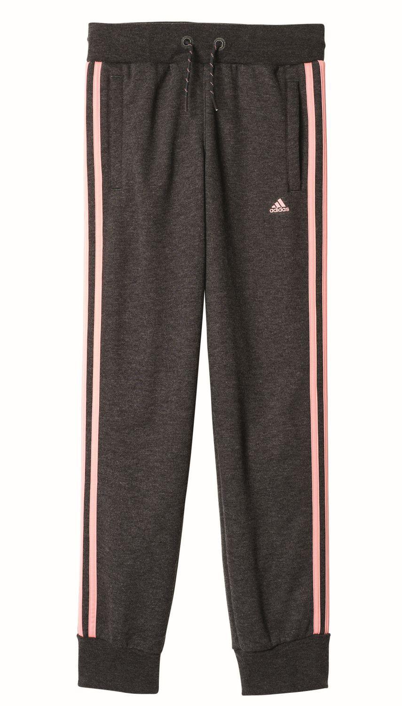 Details zu adidas Performance Mädchen Trainingshose Essentials 3S Pant Closed Hem grau pink