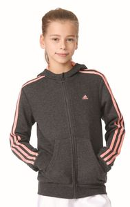 adidas Mädchen Sport Trainings Jacke Essentials 3S Full Zip Hoodie grau pink