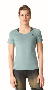 adidas Damen Sport Fitness Shirt Basic Solid Performance Tee grün