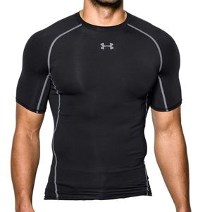 Under Armour Herren Fitness Sport Kompressions-T-Shirt HeatGear® Armour schwarz