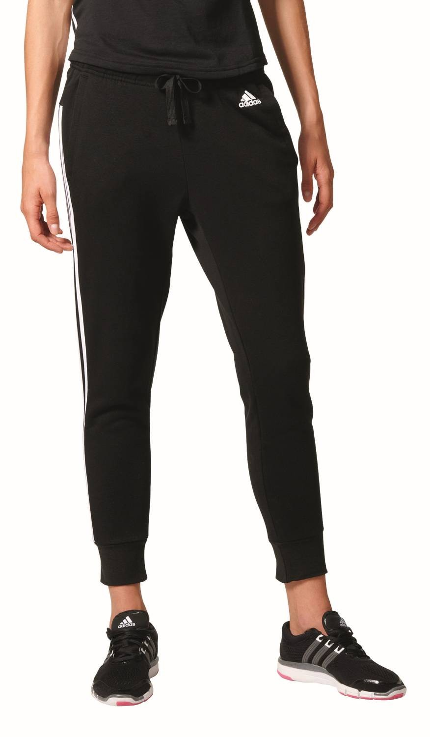79d89b47891dfb adidas Performance Damen Trainingshose Essentials 3S Tapered Pant schwarz