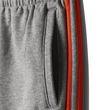 adidas Kinder Trainingshose Essentials 3 Stripes French Terry Pant grau / rot Bild 6